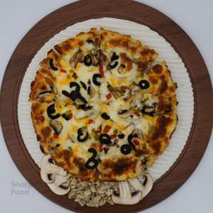 پیتزا مرغ و قارچ یک نفره