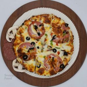 پیتزا پپرونی سالامی یک نفره